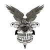 bullets, desperado, eagle, golden, gun, guns, history, longhorn, loop, mexican, outlaw, pistols, skull, west, western, wild, wings
