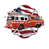 american, engine, fire, firefighters, flag, heroes, ladder, logo, rescue, truck, USA, vehicle