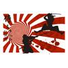 blood, calligraphy, fight, flag, Japan, japanese, katana, martial arts, mask, samurai, splat, sword